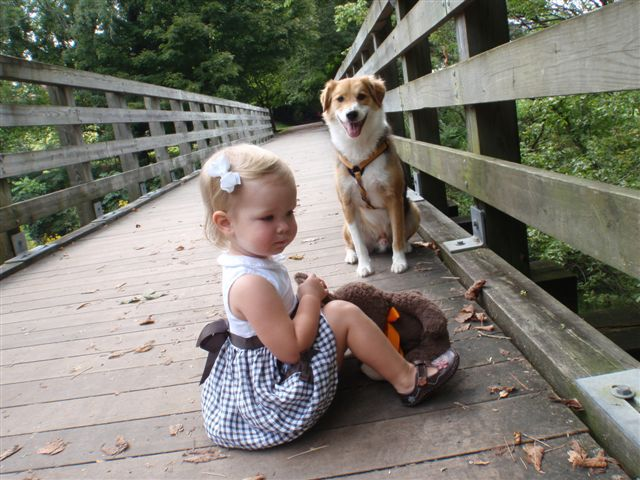 My beautiful niece, and handsome rescued nephew.