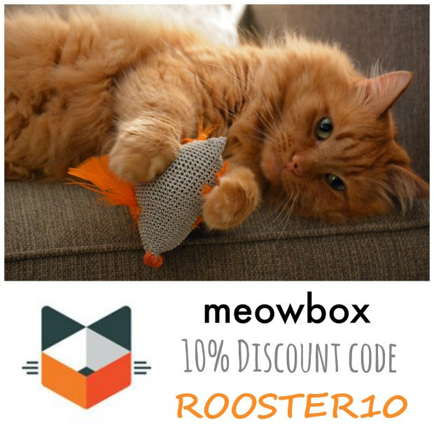 Ricky (Rooster) LOVES meowbox